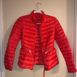 Red Moncler Lightweight Jacket